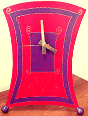 Swirly Hearts Clock