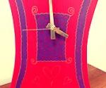 Swirly Hearts Clock