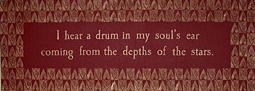 I hear a drum