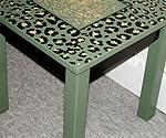 Green Leopard Table