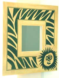 Zebra Monkey Mirror
