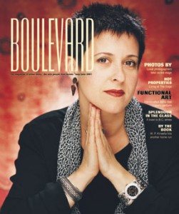 Debra Gould on the cover of Boulevard Magazine