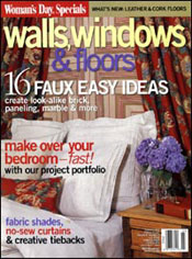 March 2004, Woman's Day Magazine's Walls, Windows and Floors in the US features Wild Things Accent Mirrors from the Debra Gould Home Collection.